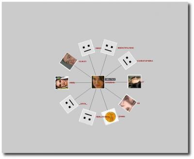 Netzwerk in flickr graph