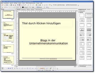 Oberfläche Impress aus StarOffice8