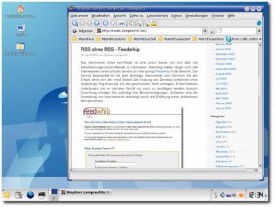 Der KDE Desktop unter Mandriva