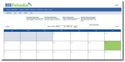 Oberfläche RSS Calendar