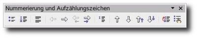 Werkzeugleiste StarOffice 8