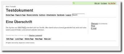 Ein Wiki in StikiPad