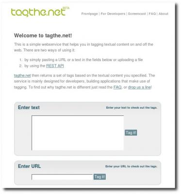 Homepage von tagthe.net