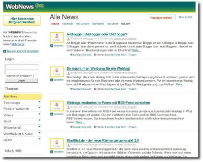 Startseite WebNews