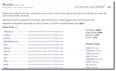 Startseite Wordie