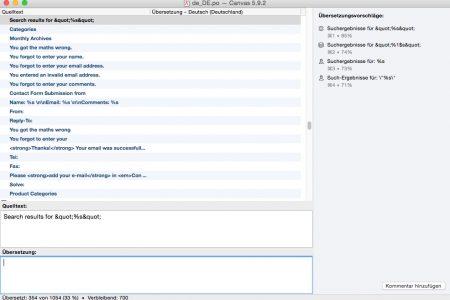 Poedit Pro greift auf einen Online-Speicher zu. Damit wird das Übersetzen schneller.