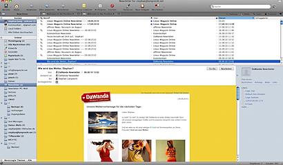 Hauptbildschirm Postbox